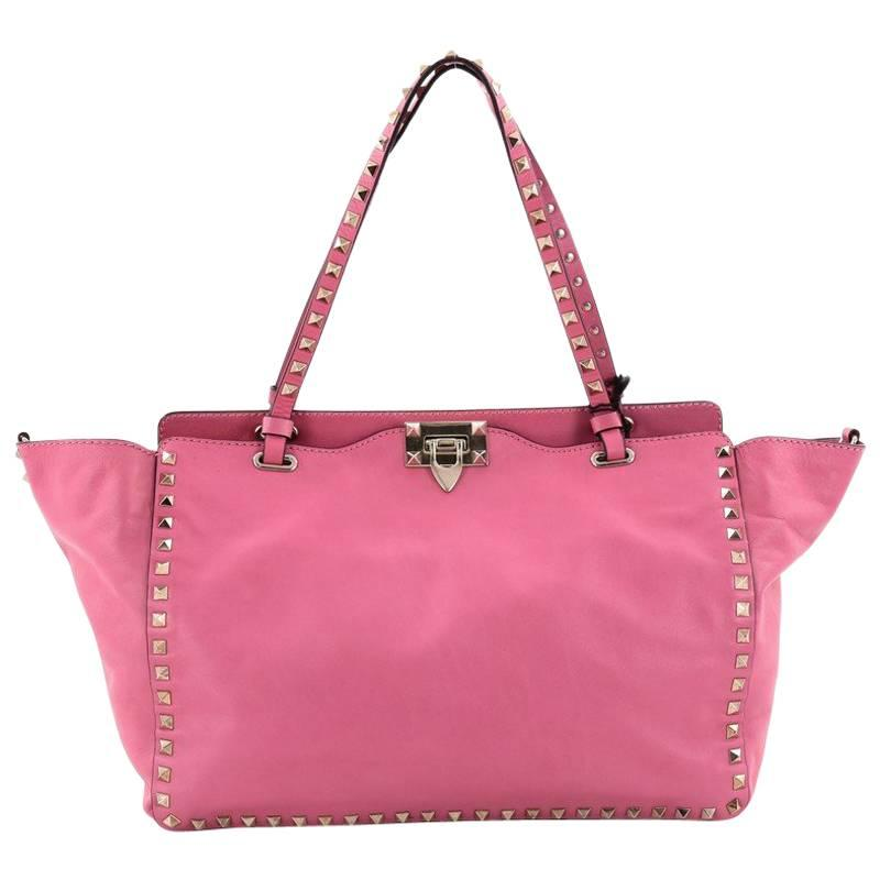 Valentino Rockstud Tote Soft Leather Medium ydcEG