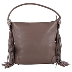 Christian Louboutin Eloise Fringe Hobo Leather Medium