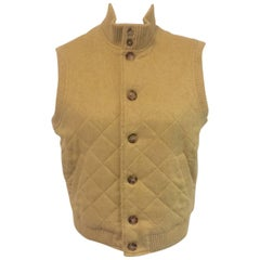 Luscious Loro Piana Cashmere Camel Cropped Vest