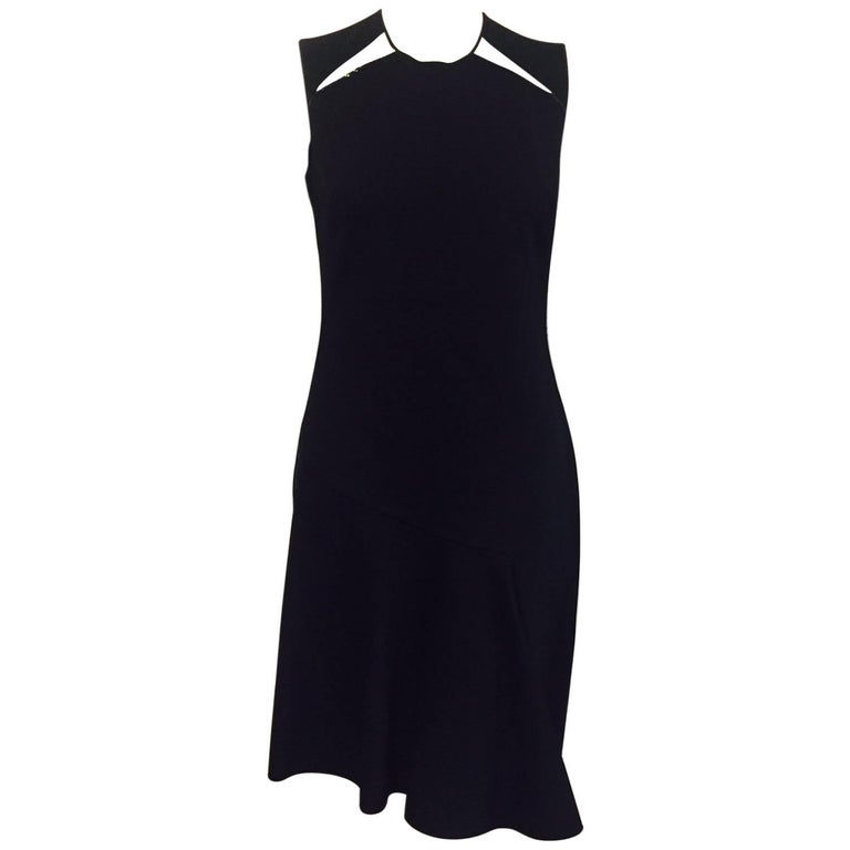 Sensational Stella Mc Cartney Little Black Dress With Decorative Chains at Sides