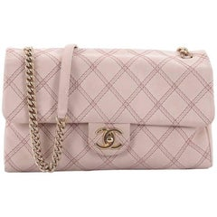 Chanel Metallic Stitch Flap Bag Quilted Leather Medium