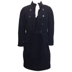 Chanel NWT Wool Navy Dress With Jacket