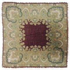 Vintage YSL Wool and Silk Etamine Earth Tone Paisley Scarf