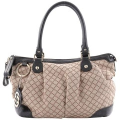 Gucci Sukey Top Handle Satchel Diamante Canvas Medium