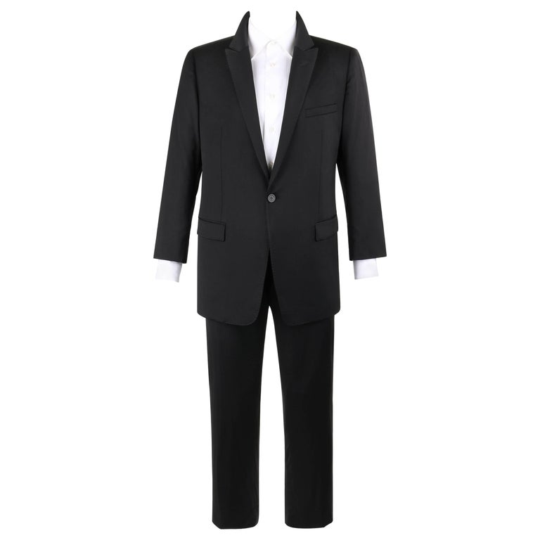 EMPORIO ARMANI David Line A/W 2014 DAVID BECKHAM 2 Pc Black Wool Pant Suit Tux