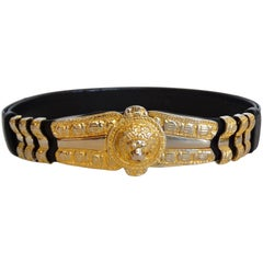 1980s Judith Leiber Lion Adjustable Belt