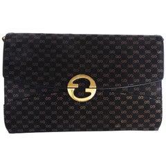 Rare 1970s Gucci Velveteen Monogram Bag