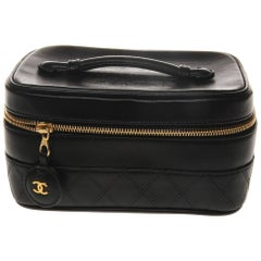 Chanel Leather Beauty Vanity Case Bag