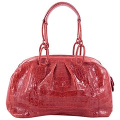 Nancy Gonzalez Bowler Bag Pleated Crocodile Medium