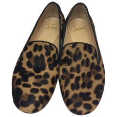 Christian Louboutin Leopard Loafers