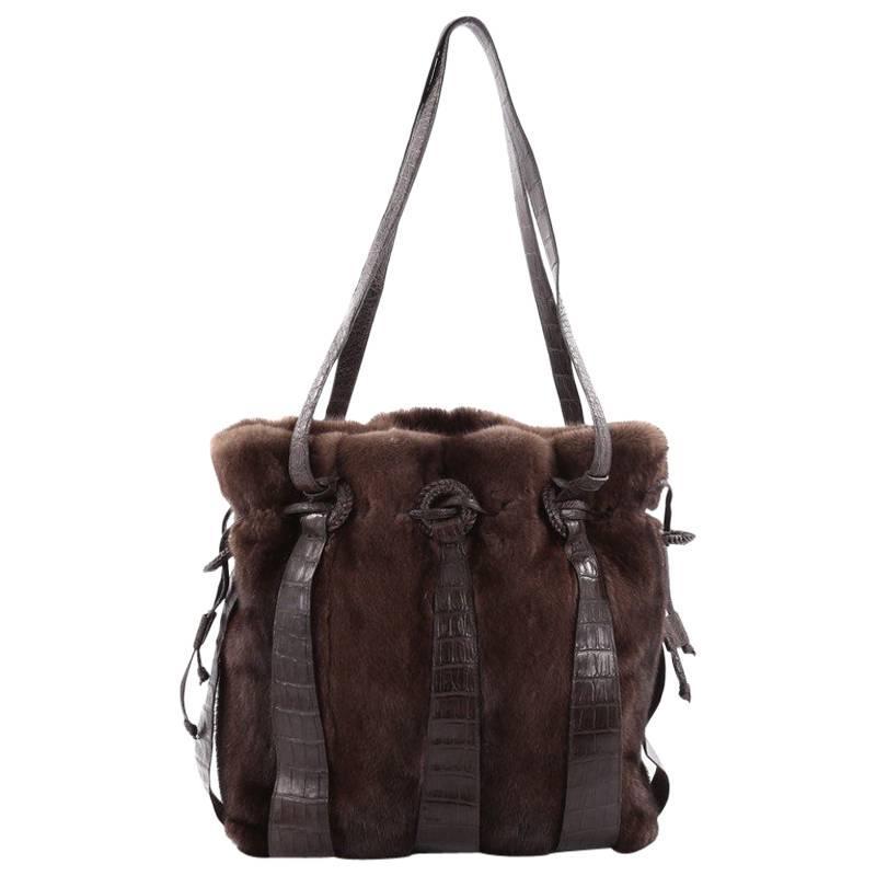 Nancy Gonzalez Earthtone Metallic Python Shoulder Bag 7YvAOENVT