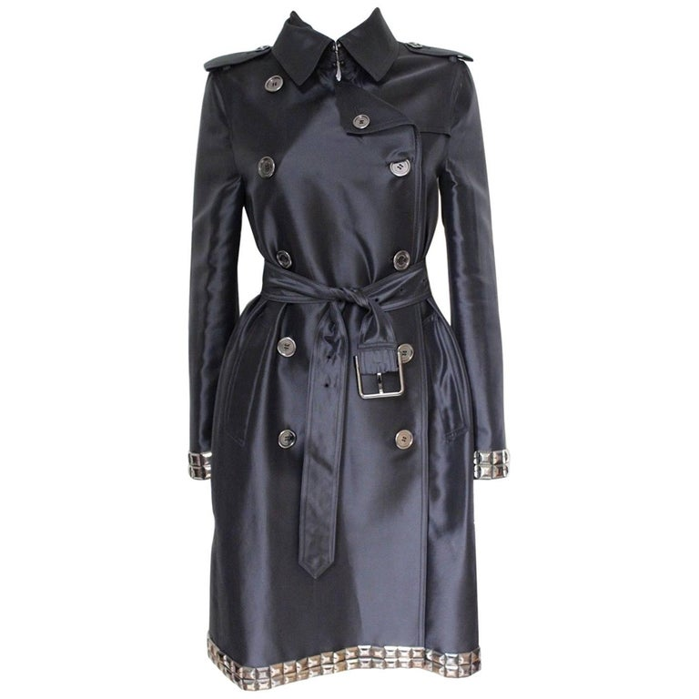 New DAVID KOMA Leather Wool Fur Woven Detail Coat UK 10   1