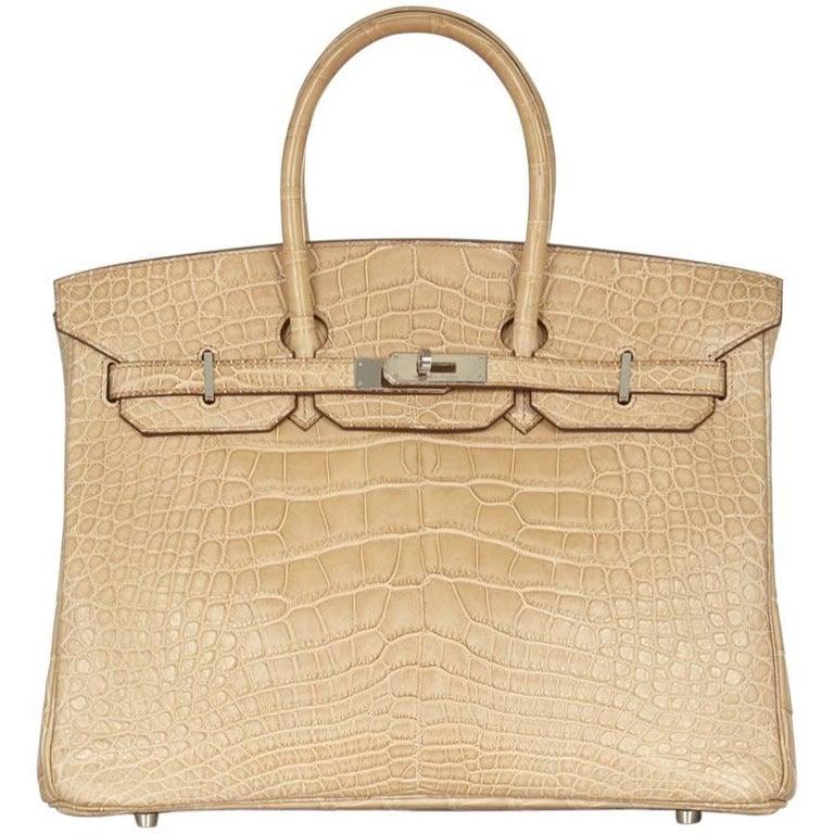 Hermes Poussiere Alligator 35cm Birkin Bag NEW 1