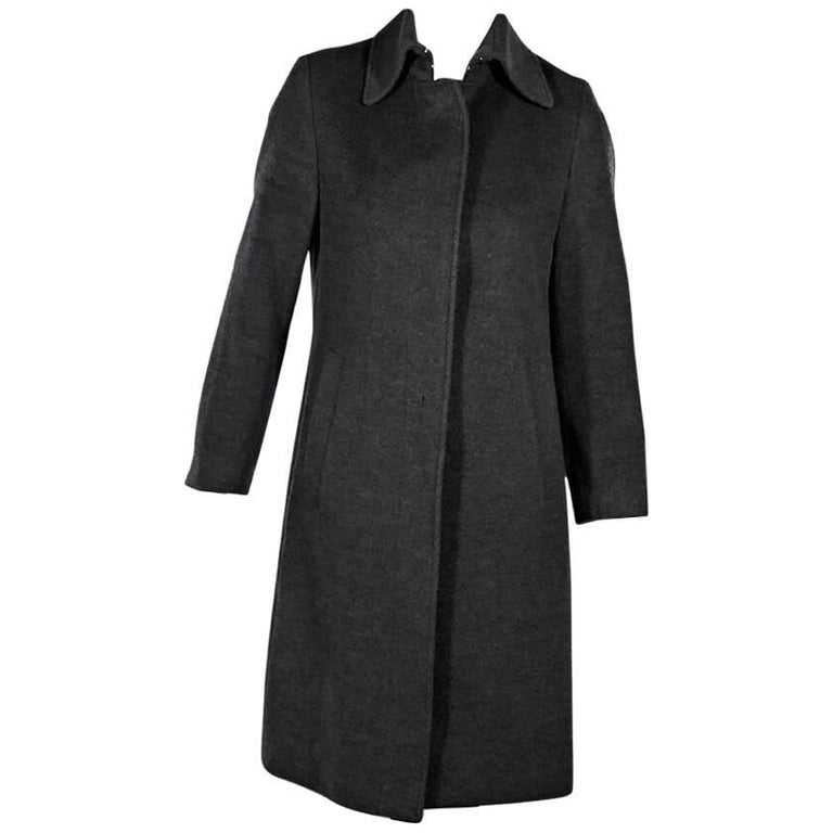 Grey Burberry London Wool Coat For Sale