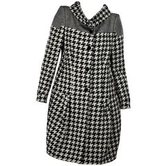 Black & White Stella McCartney Houndstooth Coat