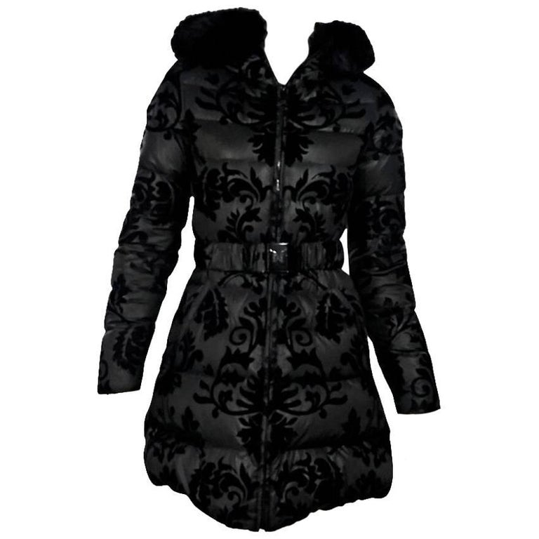 Black Dawn Levy Fur-Lined Puffer Jacket For Sale