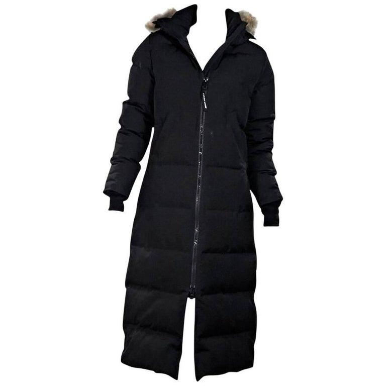 Black Canada Goose Fur-Trimmed Parka 1