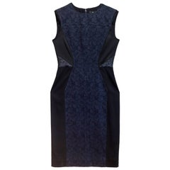 J. Mendel Black & Navy Print Dress Sz 6