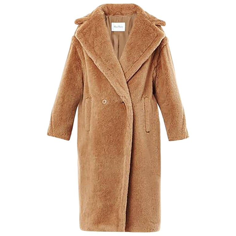 Max Mara Brown Teddy Bear Icon Coat Sz M NWT at 1stdibs