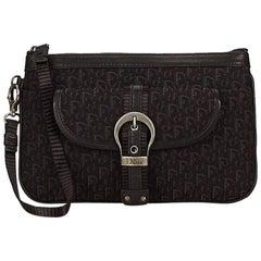 Black Dior Jacquard Diorissimo Wristlet