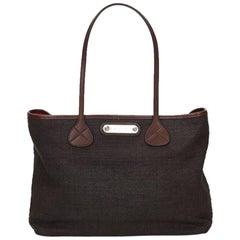 Black Céline Fiber Tote Bag