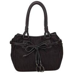 Black Christian Dior Nylon Shoulder Bag