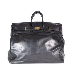 Hermes HAC 50cm Travel Birkin in Black Clemence Leather
