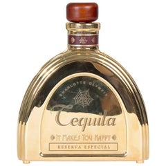 Charlotte Olympia Gold Metal Tequila Bottle Bag