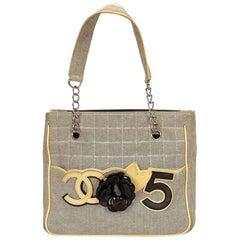 Beige Chanel Camellia No. 5 Tote bag