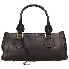 Black Chloé Leather Paddington Shoulder Bag