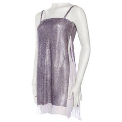 1990s Gianni Versace Crystal Metal Mesh Dress