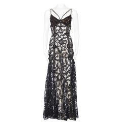 Morphew Collection Sheer Handmade Antique Lace Gown