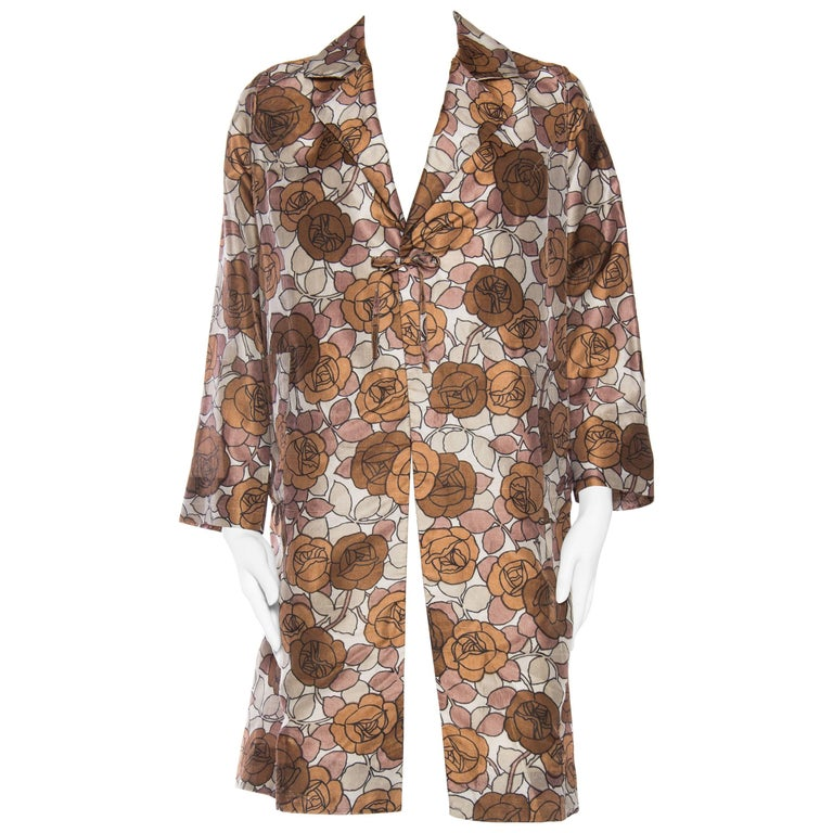 Rare 1960s Hanae Mori Floral Silk Jacket