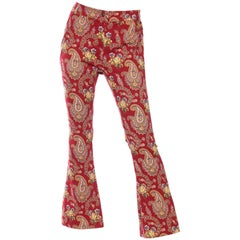 1990s Christian Dior Victorian Paisley Trousers