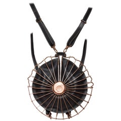 Jean Paul Gaultier Copper Accordion Cage Backpack Purse