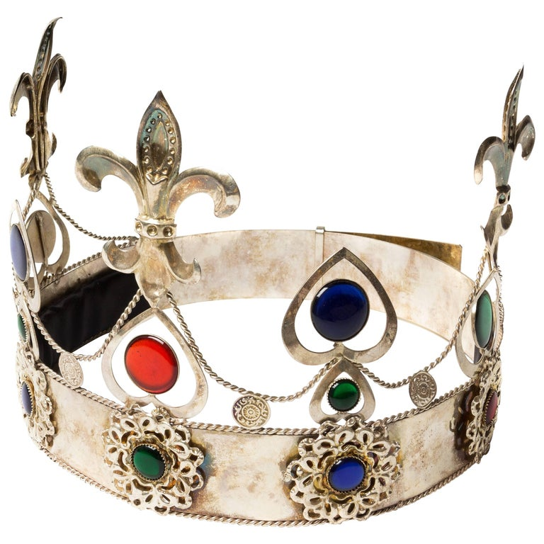 Vintage Silver Crown For Sale