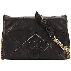 Chanel Black Leather Flap Chain Shoulder Bag