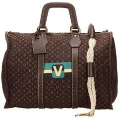 Louis Vuitton Brown Mini Lin Initiales Keepall