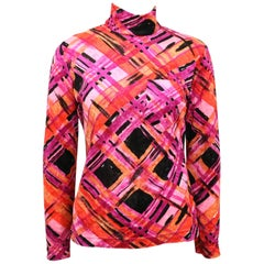 Philosophy by Alberta Ferretti Multi Coloured Pattern High Neck Top