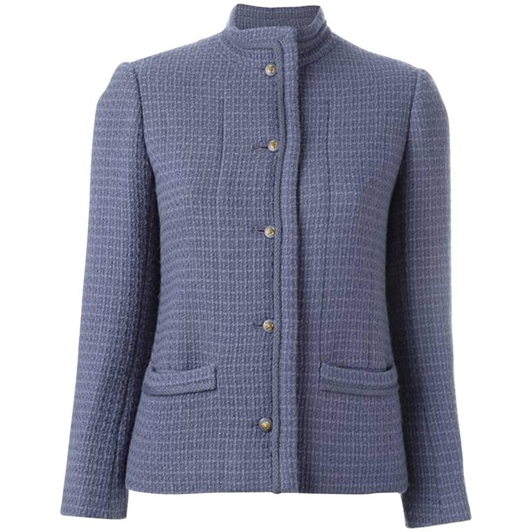 70s Chanel Lilac Wool Boucle Jacket