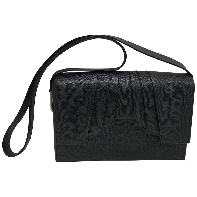 Gianni Versace couture black leather vintage bag