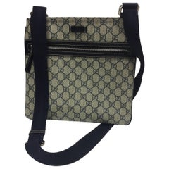 Gucci Navy Surpreme Canvas Logo Crossbody