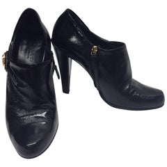Gucci Patent Leather Short Ankle Booties