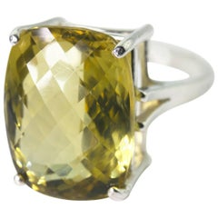 Brilliant Lemon Quartz Ring