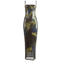 Dolce & Gabbana Autumn-Winter 1998 hand painted mesh evening dress