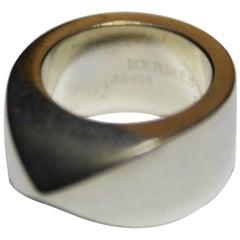 RARE Imposing Hermès Vintage Palmyre Ring Silver 925  Size 14 US