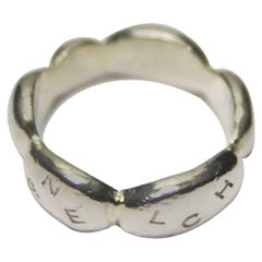 Chanel Vintage Ring Initiale Silver 925 Size US