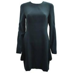 Alexander McQueen Teal Long Sleeve Structured Dress