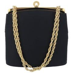 C.1960 Harry Rosenfeld 'Twifaille' Black Evening Handbag