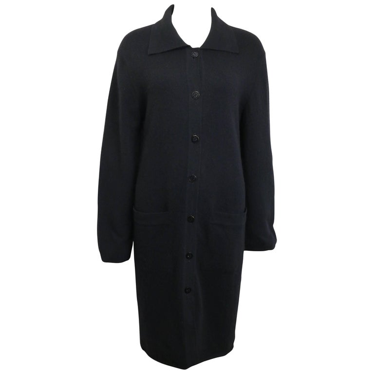 Chanel Black Cashmere Long Cardigan